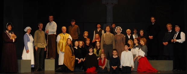 The cast of Skibbereen Theatre Society's production of Flight to Grosse Ile by Jim Minogue